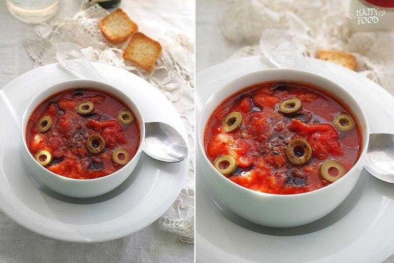 """Простой томатный суп по мотивам """"pappa al pomodoro"""""""