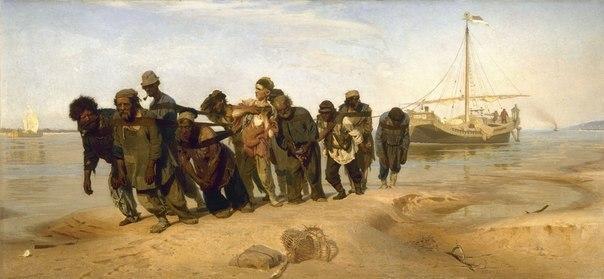 Картина И. Е. Репина «Бурлаки на Волге»