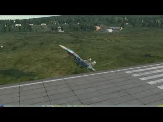 DCS World - Su-27 - Pugachev's Cobra Landing - Су-27 - Кобра Пугачева с посадкой..mp4