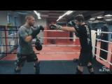 Андрей Басынин и Дмитрий Киселев. Muay Thai. Удар в печень и лоу-кик.