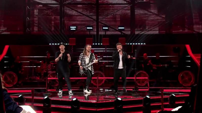 Voice of Poland TVP - BARON i Tomson vs Andrzej Piaseczny RadioGaGa z repertuaru Queen