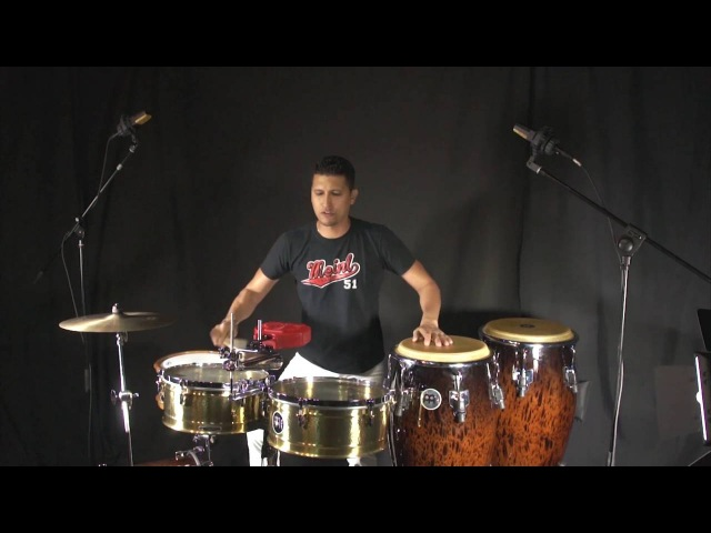 How to Play a Multi-Percussion Set by Dani Morales - El Guararey de Pastora on Timbales and Congas