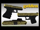 CS:GO Glock-18 Golden ironwork HD skin for CS 1.6