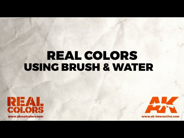 REAL COLORS. USING BRUSH WATER