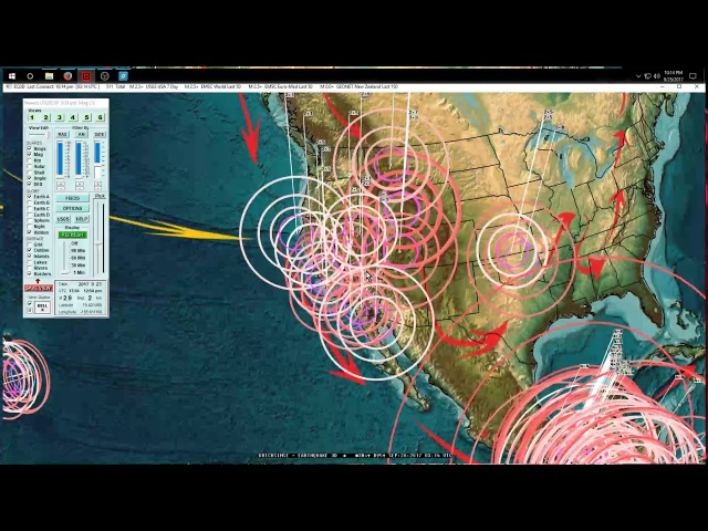 9 25 2017 Earthquake Update Pressure transferring across Pacific Large EQ's possible