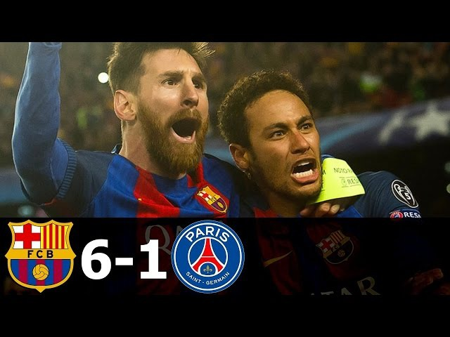 Barcelona vs PSG 6-1 Match the history of Barcelona (I advise viewers)