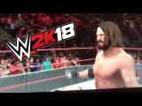 WWE 2K18 Gameplay - (AJ Styles Vs John Cena + Entrance Distractions + Sneak Attack!!!)