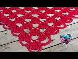 Châle Amour crochet facile / Chal amor tejido a crochet facil