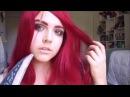 League of Legends Katarina Cosplay Makeup Transformation Burgundy Smoky Eye