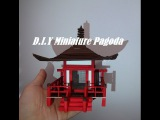 DIY Miniature Pagoda from Popsicle sticks.