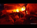Пожар РБ г. Уфа 25.01.2017 г. Горит жилой дом ул. Зенцова 83а