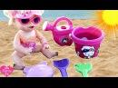 Кукла Беби Элайв У МОРЯ ИГРАЕМ С ПЕСКОМ Игрушки Игры для Детей ДетскийКанал