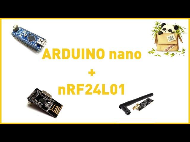 Распаковка платы Arduino Nano и радиомодуля nRF24L01
