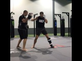 Luke Rockhold training