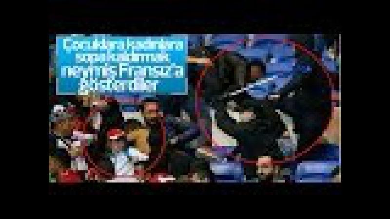 Fransız Taraftarlar Küçük Kıza Sopayla Saldırdı Lyon Beşiktaş