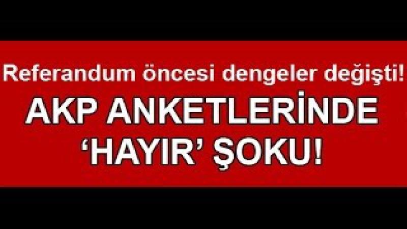 AKPnin anket sonuçlarında HAYIR şoku