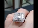 Изысканное кольцо, белое золото 750 пробы, чистейшие южноафриканские бриллианты