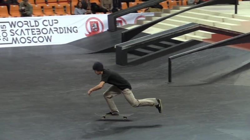 Aurelien Giraud - World Cup Skateboarding Moscow 2015 finals