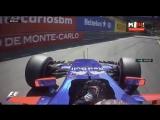 реакция Даниила Квята на сход Вандорна - Квалификация Гран-При Монако 2017
