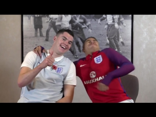 Behind window 2️⃣2️⃣, its Room Mates with Michael Keane and @JesseLingard!