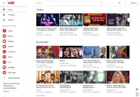 «Google» выпускает «YouTube» в обновлённом дизайне для большего числа пользователей