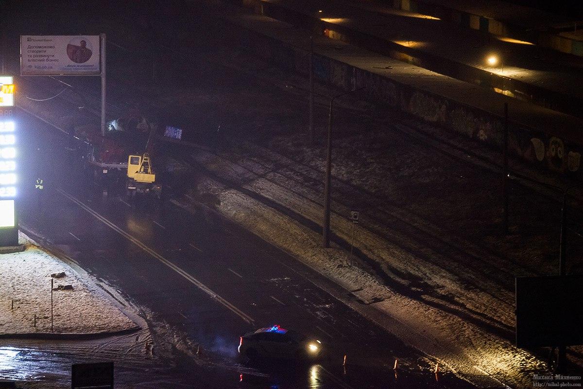 Авария: Автомобиль въехал в столб (ФОТО)