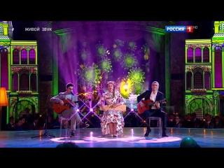 Финал. Вячеслав Бутусов (вокал, гитара) и Виталий Кись (гитара), Мария Климова (народный вокал).