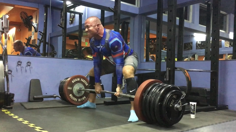 Deadlift 250kg/551lb 2 reps 5 sets with support Bear gear⬇️