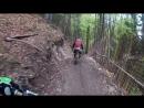 Велосипедист заснял погоню медведя за товарищем/Bear on the Bikepark