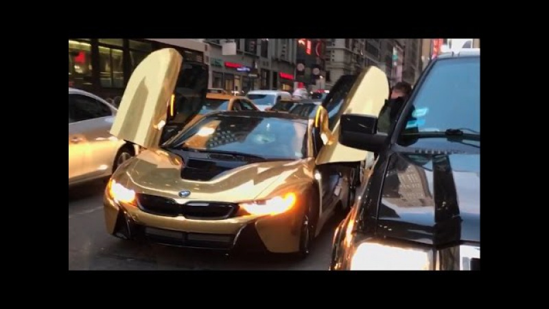 $200 000 CAR SMASHED BY STRANGER Coby Persin's Gold BMW i8 Wrecked