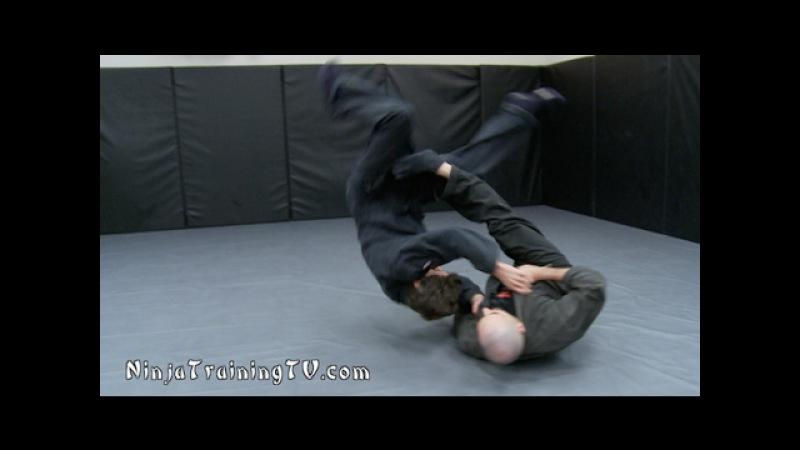 Ninja Sacrifice Throws- Tomoe Nage and Yoko Nagare for Bujinkan Ninjutsu