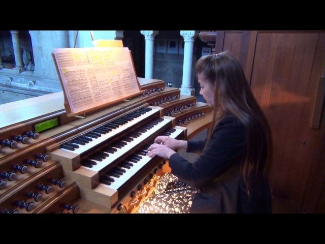 Bach Concerto en La mineur pour 4 clavecins BWV 1065 Pascale Mélis à orgue St. Clodoald St. Cloud