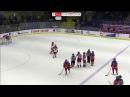 Драка в четвертьфинальном матче чемпионата мира по хоккею,среди женских молодё ...