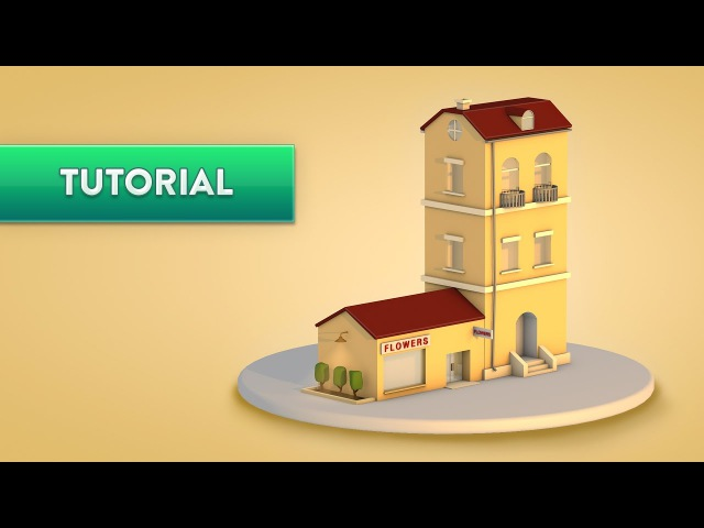 C4D TUTORIAL   Low Poly Apartment Shop (Beginner)