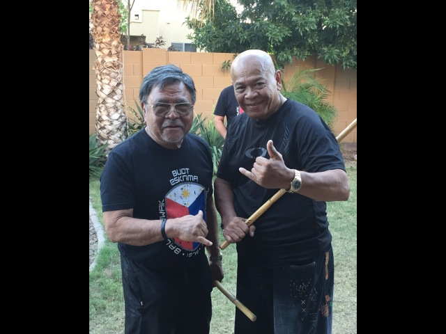GM Bobby Taboada visits Buot Balintawak Eskrima Club in Arizona