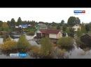 Vesi on korkiella Jyskyjärven kylässä