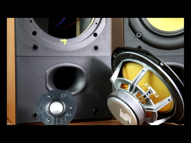 Bowers and Wilkins DM602 S2 look inside the speakers