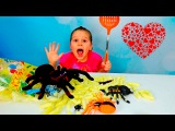 BAD BABY VALENTINES CHOCOLATE & CANDY Giant Spider Attack Гигантский Паук Атакует  Святого Валентина
