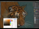 Aaron Blaise paints a tiger in Photoshop Cs6