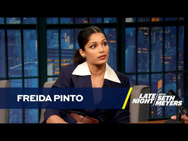 Freida Pinto Stabbed Her Co-Star Riz Ahmed on Set