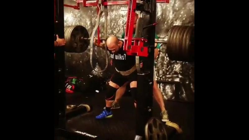 Амит Сапир, приседания 330 кг