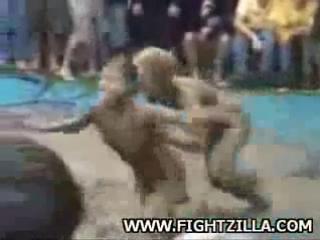 Bikini wrestling video