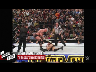 WrestleMania moments of Royal Rumble Match winners_ WWE Top 10