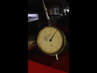 Проточка тормозного диска (результат, биение менее 0,01мм)