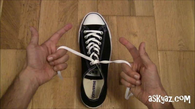 Как завязать шнурки за 1 секунду!? Просто lifehack лайфхак шнурки кеды