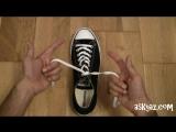 Как завязать шнурки за 1 секунду! Просто!!!  #lifehack #лайфхак #шнурки #кеды