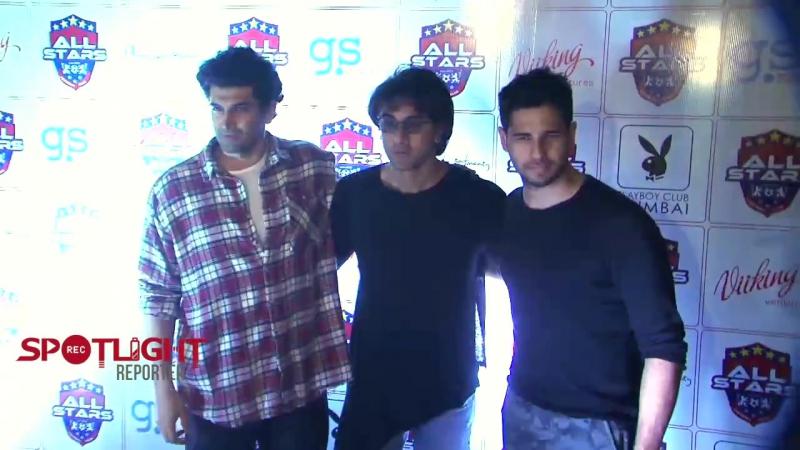 Sidharth Malhotra, Ranbir Kapoor and Aditya Roy Kapur At The Red Carpet Of Celebrity Football Team P