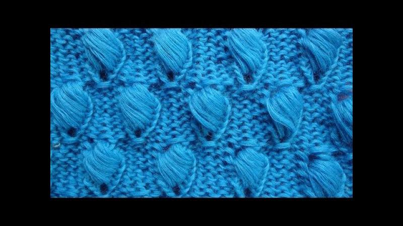 Спущенные шишечки Узор вязания спицами Knitting pattern free 15