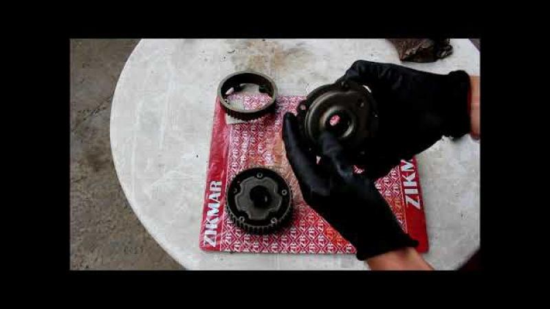 Как выглядит фазорегулятор внутри, разрезал фазорегулятор от Шевроле Круз