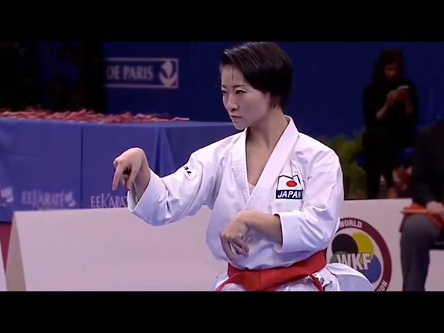 OPEN PARIS 2017 FINAL - KATA - HIKARU ONO (JPN) vs SANDY SCORDO (FRA) KARATE KATA